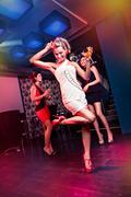 on the dancefloor - stock photo