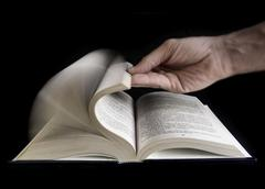 Defoliate a book Stock Photos