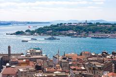 Golden Horn in Istanbul - stock photo
