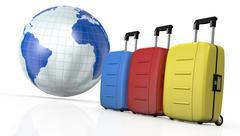 concept of travel - stock illustration