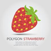 Polygon Strawberry , eps10 vector format - stock illustration