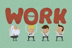TeBusiness teamwork , eps10 vector format Stock Illustration