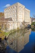 Victorian era warehouse, bradford on avon, uk - stock photo