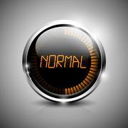 Normal symbol - stock illustration