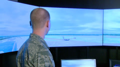 Air Traffic Control Tower Simulator Stock Footage