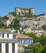 parc des cevennes, historic village - stock photo