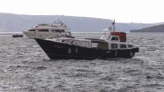 Boats on a sea - Greece, Santorini. - stock footage