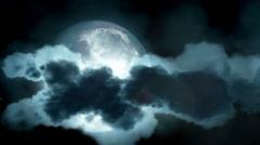 Big moon - stock footage