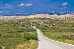 Village gorica, island of pag Stock Photos
