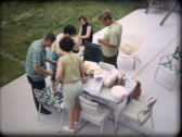 Stock Video Footage of 1970s Family Barbeque