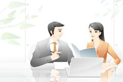 Businessmen in discussion Stock Illustration