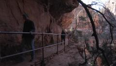 Hiking Canyon Overlook Trail, Zion National Park, 2 Stock Footage