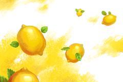 Flying lemon Stock Illustration