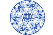 Stock Illustration of Chinese traditional blue and white porcelain style pattern