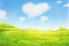 Beautiful rural scene Stock Illustration
