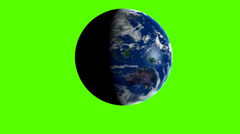 Earth greenbox animation Stock Footage