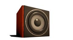 Sound bass subbuffer Stock Footage