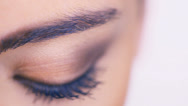 Stock Video Footage of Closeup of a female eye with eyeshadow