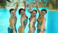 people having fun in the water park 3 Footage