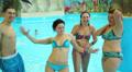 people having fun in the water park 2 HD Footage