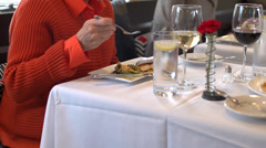 Dining Luxuriously with friends (5 of 6) Stock Footage