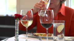 Dining Luxuriously with friends (3 of 6) Stock Footage