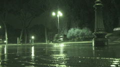Heavy rain 1 (Infrared Night Vision) Stock Footage