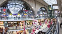 Leipzig railway station atrium, Leipzig, Germany Stock Footage