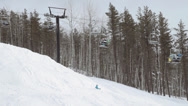 Stock Video Footage of Side View Ski Resorst Chairlift