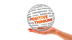 Positive thinking word sphere Stock Footage