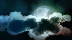 Big moon with clouds Stock Footage