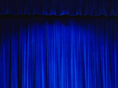 Blue Theater Curtain - stock photo