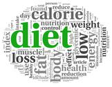 Stock Illustration of diet concept in tag cloud