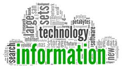 Stock Illustration of innovation and technology concept  in tag cloud
