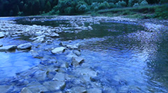 Beautiful speed mountainous river Stock Footage