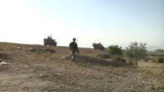 Infantrymen Disrupt Enemy Activity in Eastern Afghanistan - stock footage