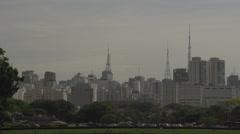 018 Sao Paulo, skyline Stock Footage