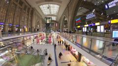Leipzig railway station atrium, Leipzig, Germany - stock footage