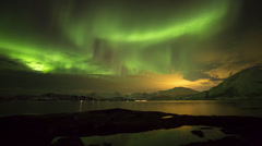 Norway, Aurora Borealis, Northern Lights, Troms region Stock Footage