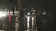 Heavy rain & traffic 2# Stock Footage