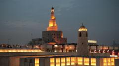 Doha, Qatar, Spiral mosque Kassem Darwish Fakhroo Islamic Centre Stock Footage