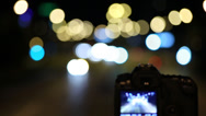 Stock Video Footage of Camera & Bokeh