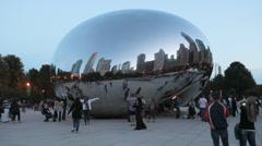 'Cloud Gate', 'The Bean', Millennium Park, Chicago, USA - stock footage