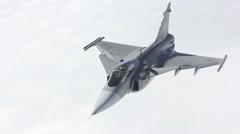 Czech JAS-39 Gripen fighter aircraft Stock Footage