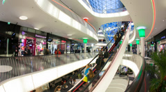 MyZeil shopping mall, Frankfurt am Main, Germany Stock Footage