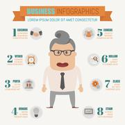 Stock Illustration of Business infographics elements , eps10 vector format