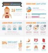 Medical Infographics , eps10 vector format - stock illustration
