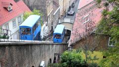 Old Funicular System of Zagreb Stock Footage