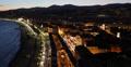 Ultra HD 4K UHD Illuminated Night Aerial View City Nice Skyline Luxury Vacation 4k or 4k+ Resolution