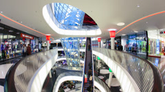 Stock Video Footage of MyZeil shopping mall, Frankfurt am Main, Germany